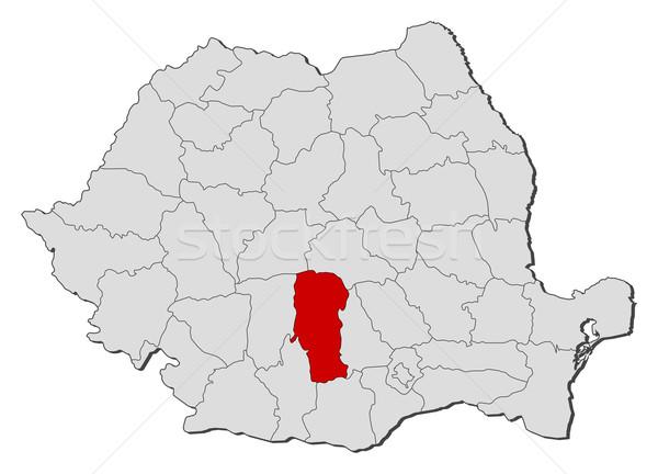 Stock fotó: Térkép · Romania · politikai · néhány · földgömb · absztrakt