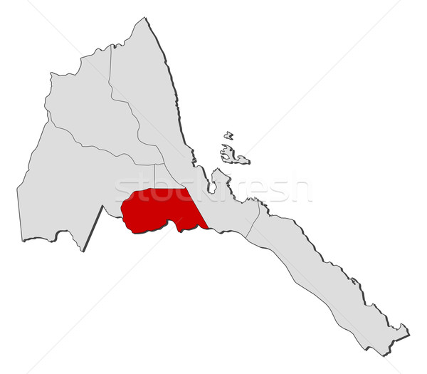 карта Эритрея политический несколько аннотация фон Сток-фото © Schwabenblitz