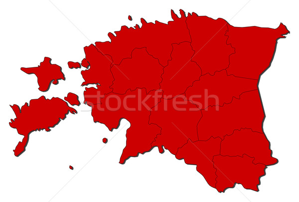 Map of Estonia Stock photo © Schwabenblitz