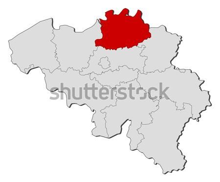 Kaart Wit-Rusland politiek verscheidene abstract wereld Stockfoto © Schwabenblitz