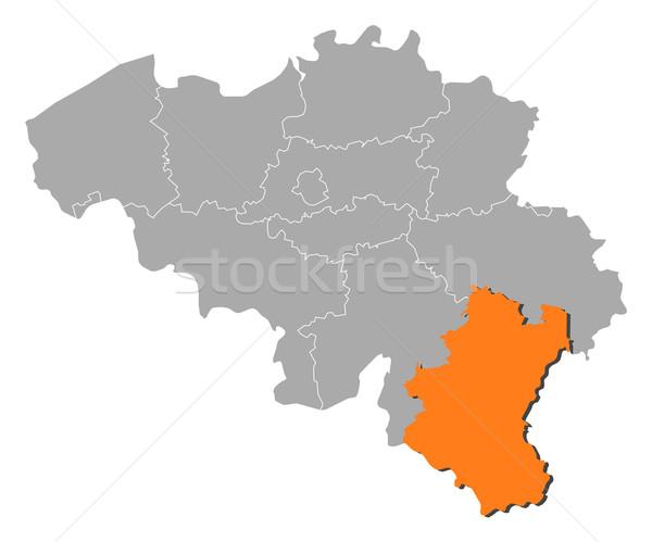 Map of Belgium, Luxembourg highlighted Stock photo © Schwabenblitz