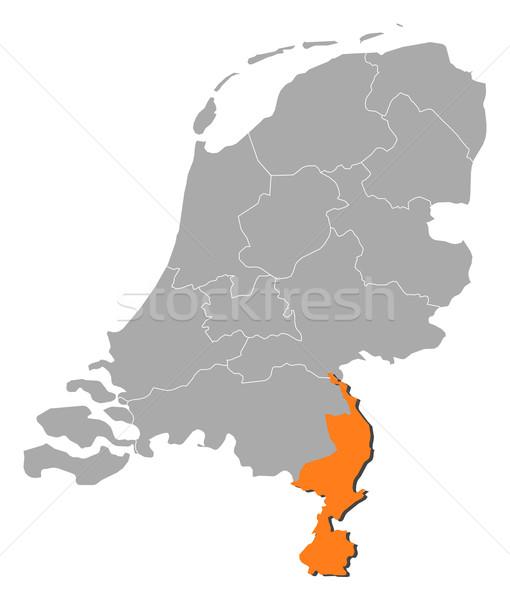 Map of Netherlands, Limburg highlighted Stock photo © Schwabenblitz