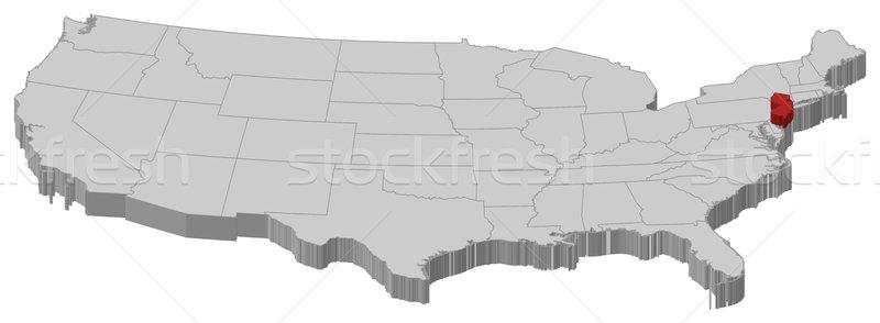 Carte États-Unis New Jersey politique plusieurs résumé Photo stock © Schwabenblitz