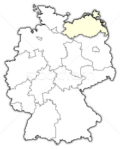 Karte Deutschland politischen mehrere abstrakten Hintergrund Stock foto © Schwabenblitz