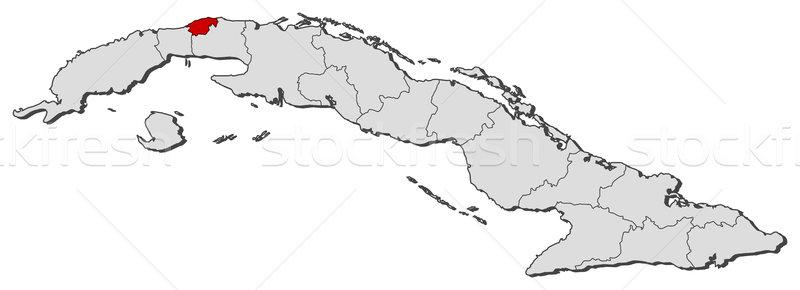 地図 キューバ ハバナ 政治的 いくつかの 世界中 ストックフォト © Schwabenblitz