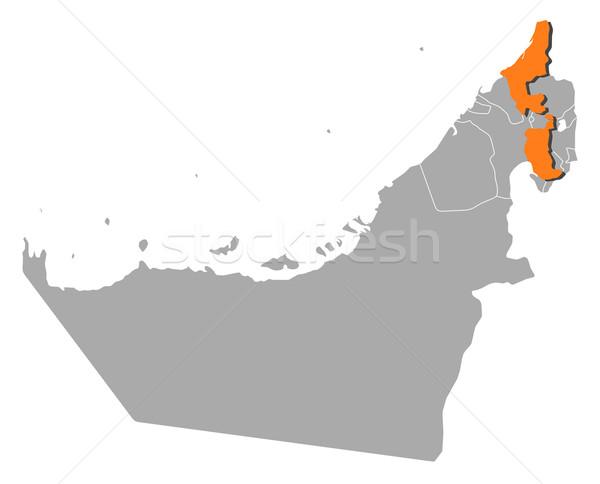 карта Объединенные Арабские Эмираты политический несколько аннотация земле Сток-фото © Schwabenblitz