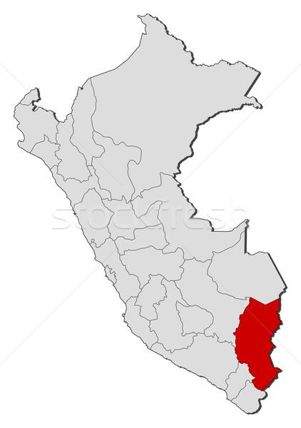 Mapa Perú político regiones mundo Foto stock © Schwabenblitz