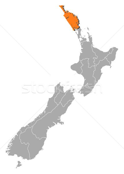 Map of New Zealand, Northland highlighted Stock photo © Schwabenblitz