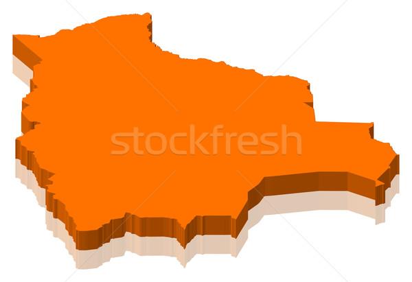 Map of Bolivia Stock photo © Schwabenblitz