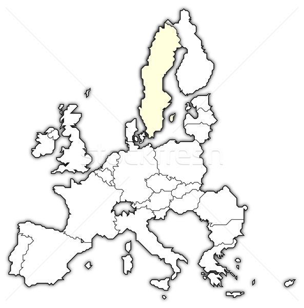 карта европейский Союза Швеция политический несколько Сток-фото © Schwabenblitz