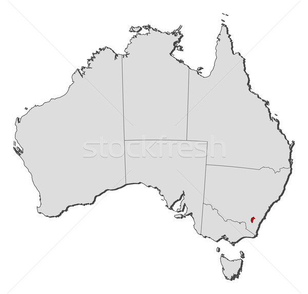 Map of Australia, Capital Territory highlighted Stock photo © Schwabenblitz