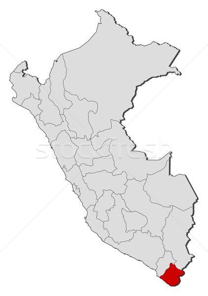Map of Peru, Tacna highlighted Stock photo © Schwabenblitz