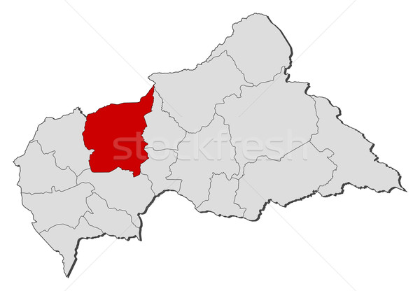 Map of Central African Republic, Ouham highlighted Stock photo © Schwabenblitz