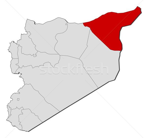 Mapa Síria político vários abstrato terra Foto stock © Schwabenblitz