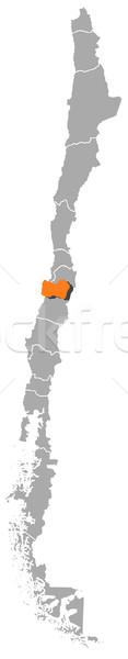Mappa Chile politico parecchi regioni abstract Foto d'archivio © Schwabenblitz