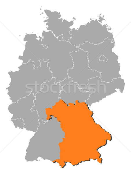 Map of Germany, Bavaria highlighted Stock photo © Schwabenblitz
