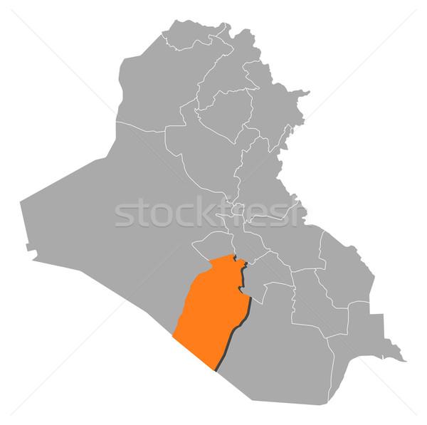Kaart Irak politiek verscheidene abstract achtergrond Stockfoto © Schwabenblitz