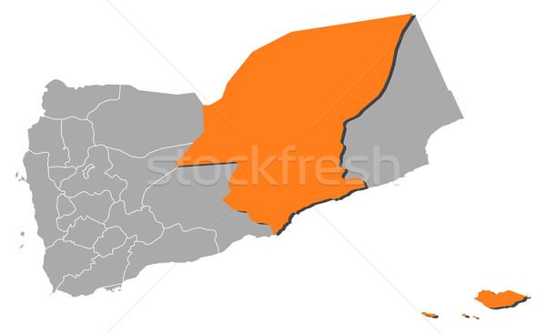 Harita Yemen siyasi birkaç soyut arka plan Stok fotoğraf © Schwabenblitz