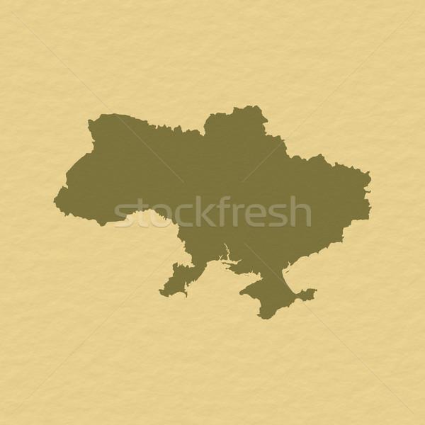 Harita Ukrayna siyasi birkaç soyut dünya Stok fotoğraf © Schwabenblitz