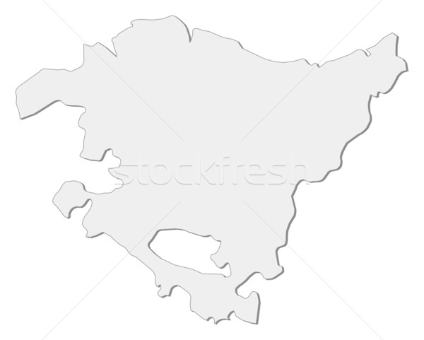 Map of Basque Country (Spain) Stock photo © Schwabenblitz