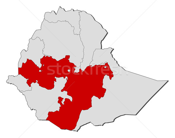 Map - Ethiopia, Oromia Stock photo © Schwabenblitz