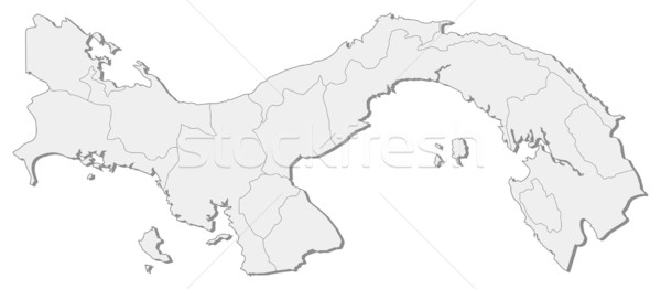 Stock fotó: Térkép · Panama · politikai · néhány · absztrakt · művészet