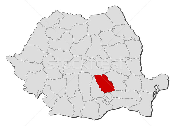 Map of Romania, Prahova highlighted Stock photo © Schwabenblitz