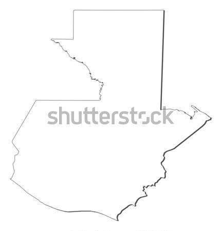 Map of Guatemala Stock photo © Schwabenblitz
