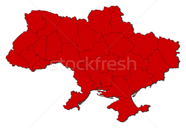 Map of Ukraine Stock photo © Schwabenblitz