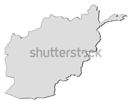 Karte Afghanistan politischen mehrere abstrakten Welt Stock foto © Schwabenblitz