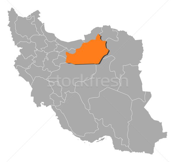 Térkép Irán politikai néhány absztrakt háttér Stock fotó © Schwabenblitz