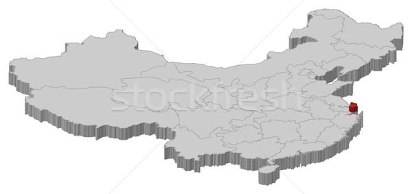 Map of China, Shanghai highlighted Stock photo © Schwabenblitz