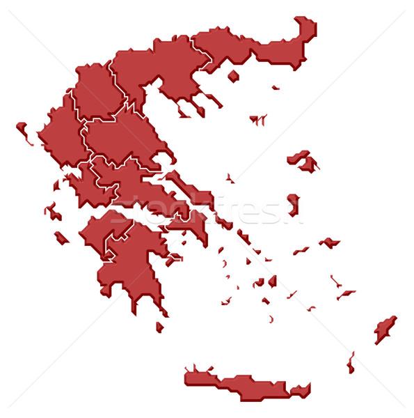Foto d'archivio: Mappa · Grecia · politico · parecchi · abstract · sfondo