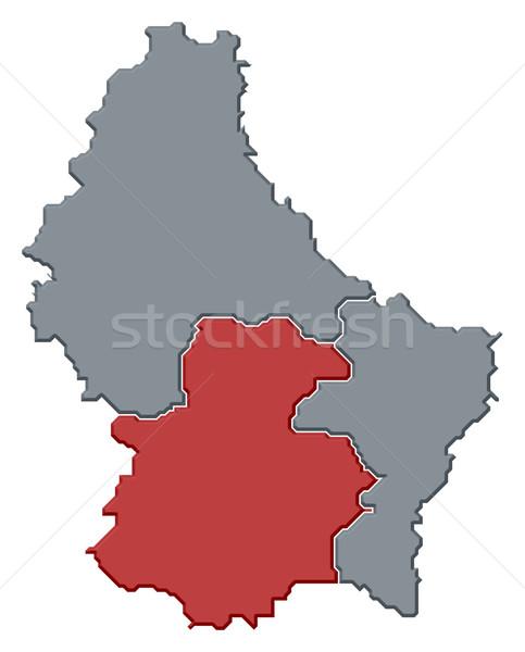 Kaart Luxemburg politiek verscheidene wijk abstract Stockfoto © Schwabenblitz