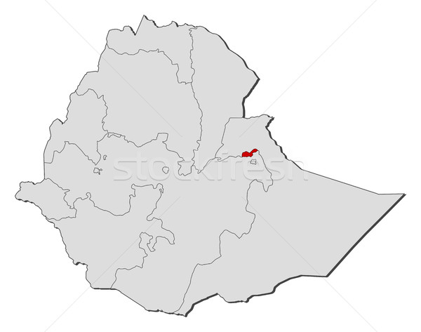 Map - Ethiopia, Dire Dawa Stock photo © Schwabenblitz