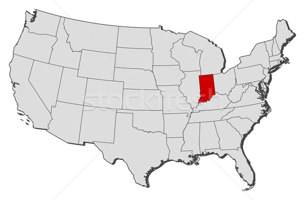 Where Is Indiana State Where Is Indiana Located In The US Map Map - Indiana map of usa