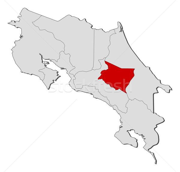 Mappa Costarica politico parecchi abstract sfondo Foto d'archivio © Schwabenblitz