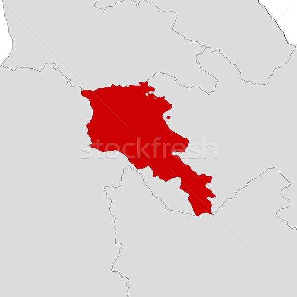 地図 アルメニア 政治的 いくつかの 抽象的な 世界 ストックフォト © Schwabenblitz