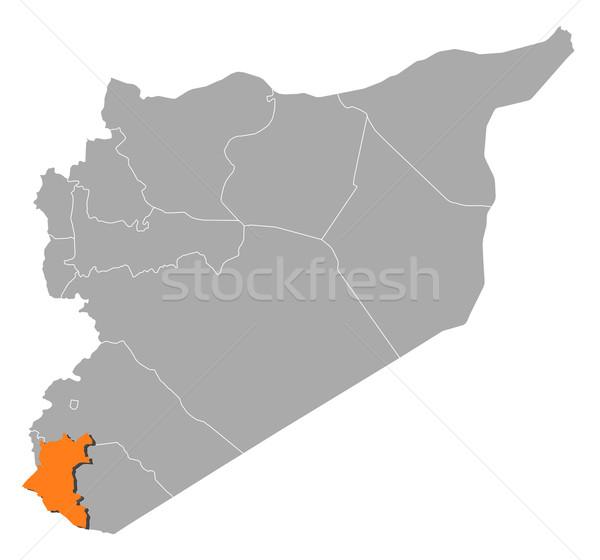 地図 シリア 政治的 いくつかの 抽象的な 背景 ストックフォト © Schwabenblitz