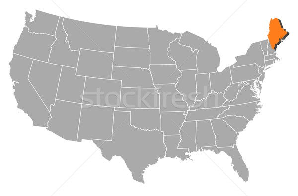 Map of the United States, Maine highlighted Stock photo © Schwabenblitz