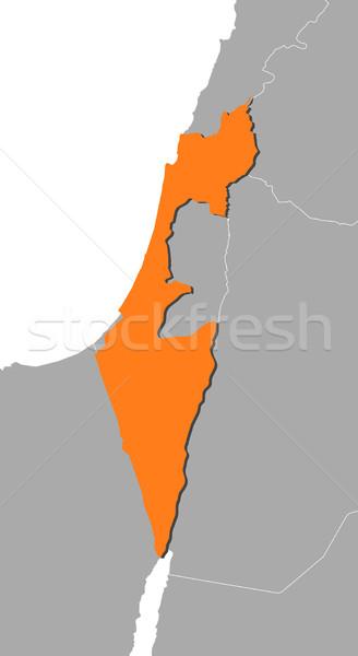 Mapa Israel político vários abstrato mundo Foto stock © Schwabenblitz