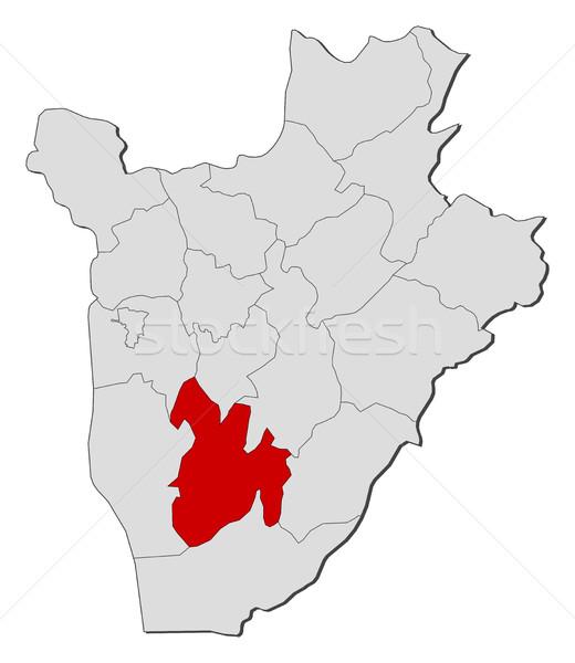 Foto stock: Mapa · Burundi · abstrato · fundo · vermelho · comunicação