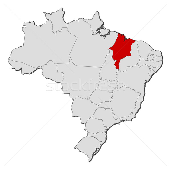 Stock photo: Map of Brazil, Maranh