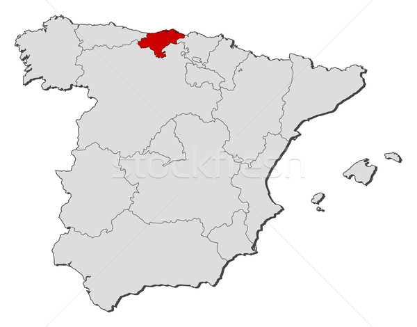 Map of Spain Cantabria highlighted vector illustration Steffen