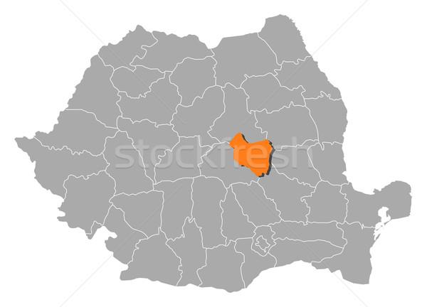 Mapa Romênia político vários abstrato fundo Foto stock © Schwabenblitz
