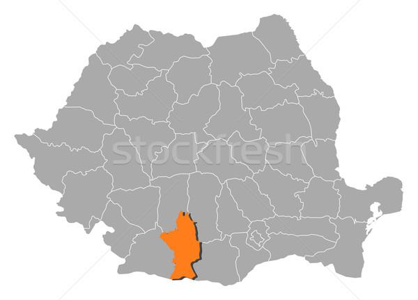 Map of Romania, Olt highlighted Stock photo © Schwabenblitz