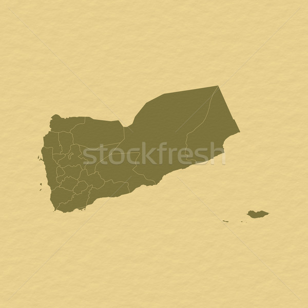 Map of Yemen Stock photo © Schwabenblitz