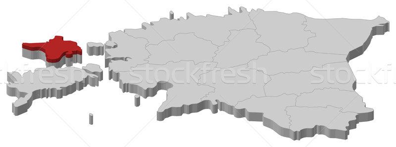 Map of Estonia, Hiiu highlighted Stock photo © Schwabenblitz