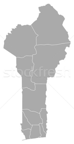 Kaart Benin donkere abstract achtergrond communicatie Stockfoto © Schwabenblitz