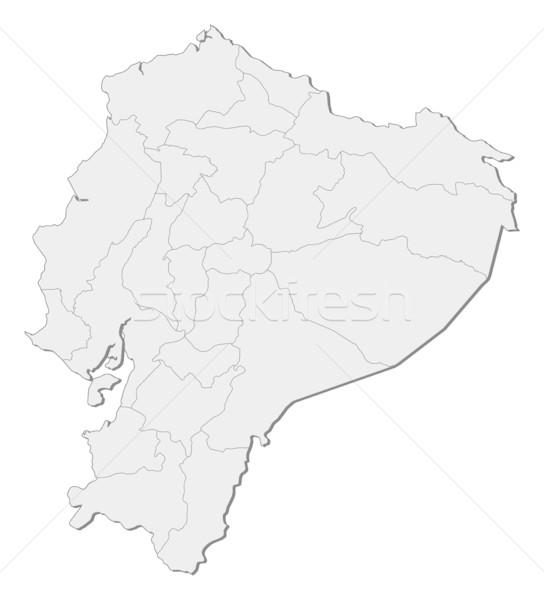 Kaart Ecuador abstract wereld achtergrond Rood Stockfoto © Schwabenblitz
